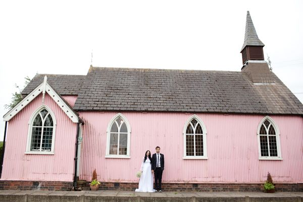 wedding video: Pink Wedding, Country Church, Pink Church, Branches Photography, Pink Places, Church Wedding, Countryside Wedding, Pink Houses, English Countryside