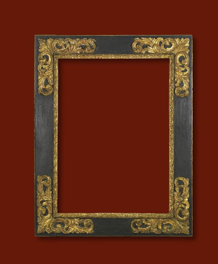 "Spanish 17th Century frame; 34 1/4"" x 25"" x 5 1/4"""