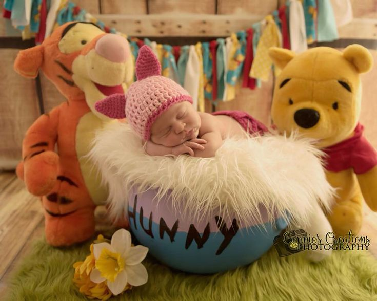 Winnie the Pooh newborn sessions. Photo done by Connie's creations photography