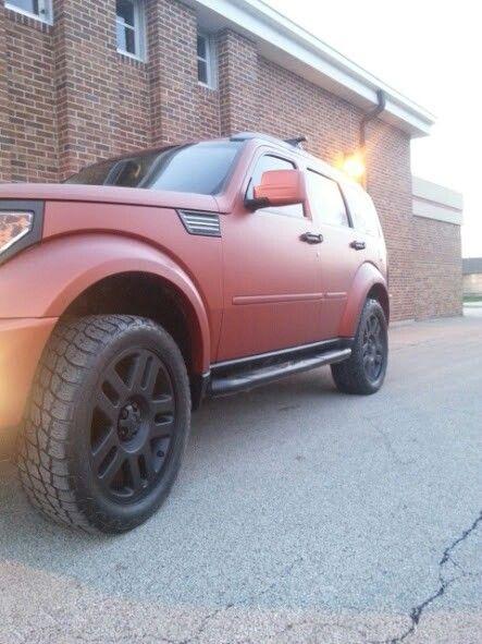 Matte red Dodge Nitro