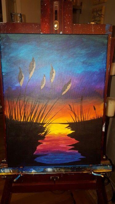 Cattails sunset