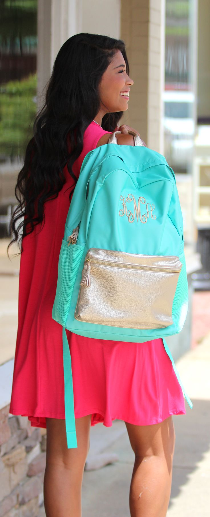 Hit the books with our NEW Monogrammed Backpack! Shop now to customize your's today!