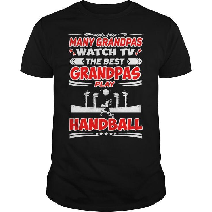 Many Grandpas Watch TV Best Handball Tshirt T-Shirts