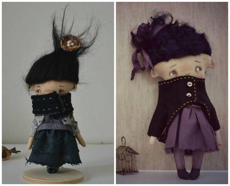 Ember and Nitta  #myoldwork #myreflection  Как же много на улицах стало таких девочек. Хожу и умиляюся 😍  и как давно я не делала кукол таких вот, маленьких. Пролистала фото и так соскучилась..