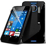 Microsoft Lumia 550 S-Line Wave Gel Case Cover (Black) Plus Free Gift, Screen Protector and a Stylus Pen, Order Now Best Valued Phone Case on Amazon! By FinestPhoneCases