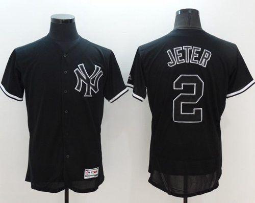 2ce5c925a ... jersey e1ca8 560ce  discount mens new york yankees derek jeter retired  lights out black fashion 2016 flex base majestic