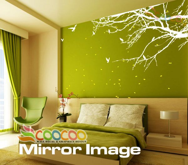 Wall Decor Decal Sticker Mural Big Removable Medium size Corner Top Branch  76