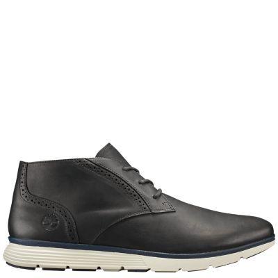 Timberland Men's Franklin Park Chukka Shoes Black Full-Grain