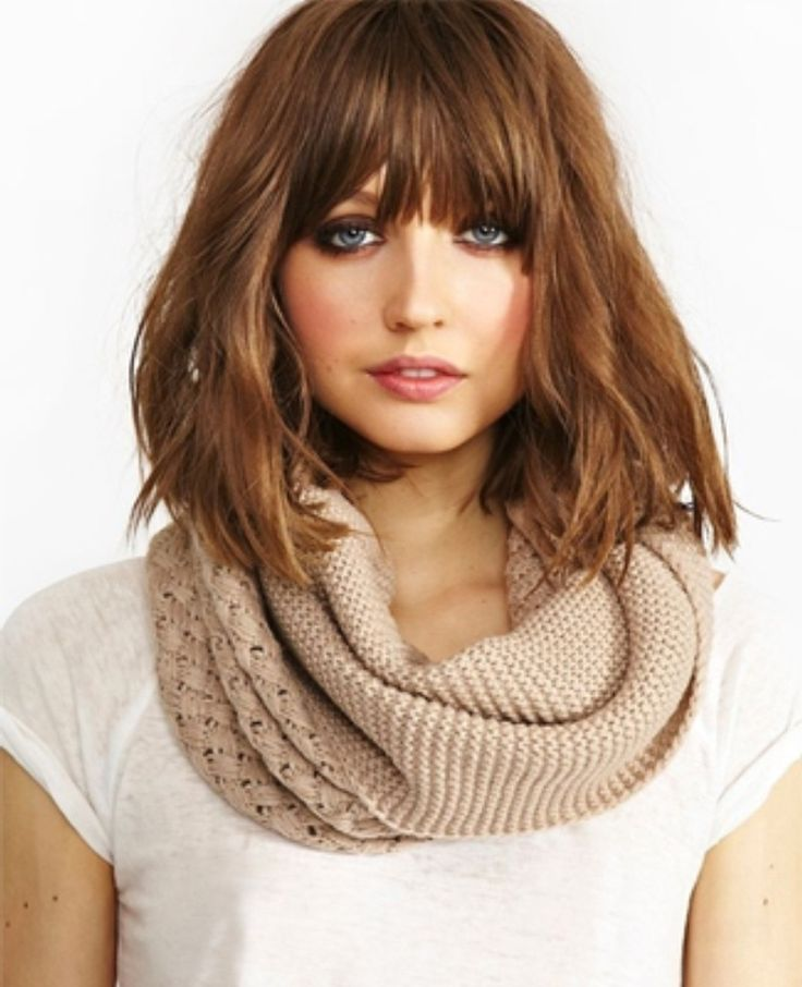 25+ best ideas about Medium hairstyles with bangs on ...