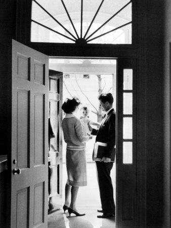 Senator John F. Kennedy, Jackie Kennedy, Caroline Kennedy, 1960