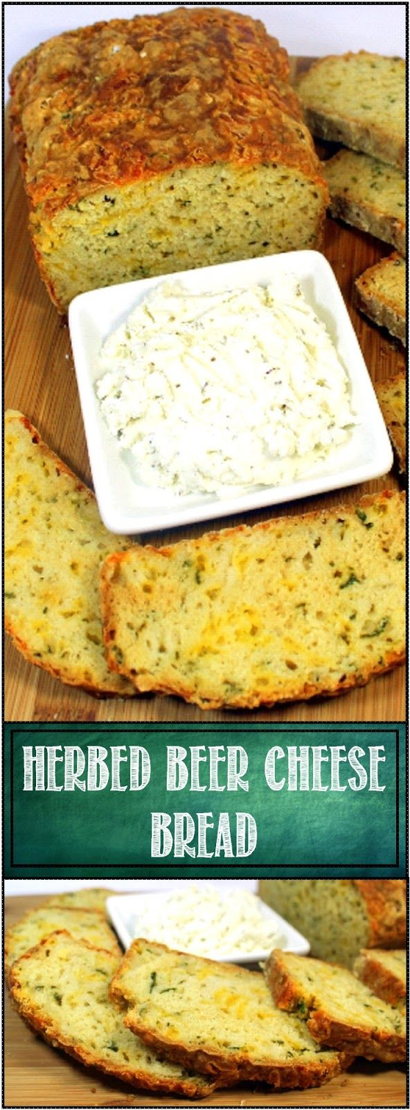 Herb Cheese Beer Bread - The Easiest of all Breads And indeed, beer bread is the easiest of all breads to make. And this one is LOADED with herbal hints and the fantastic Beer and Cheddar combination!
