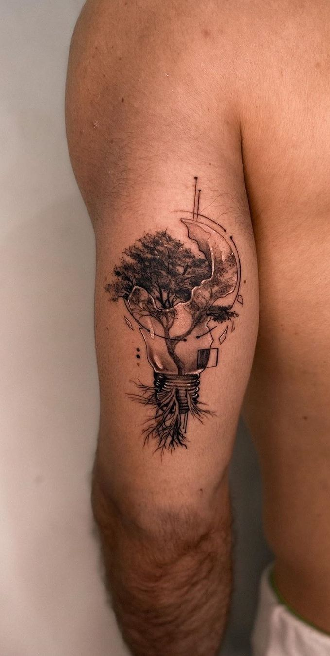 20 Gorgeous and Meaningful Tree Tattoos Inspired by Nature's Path ...