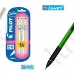 3 Pilot Hi-Techpoint Pen + 12 Pcs Luxor Mechanical Pencil at Rs.150 only + Free Shipping