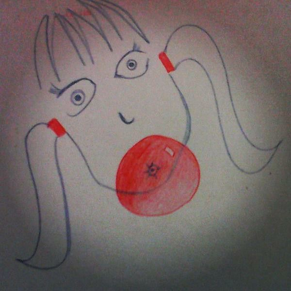 Globo:o #girl#pencil#drawing#bubblegum#
