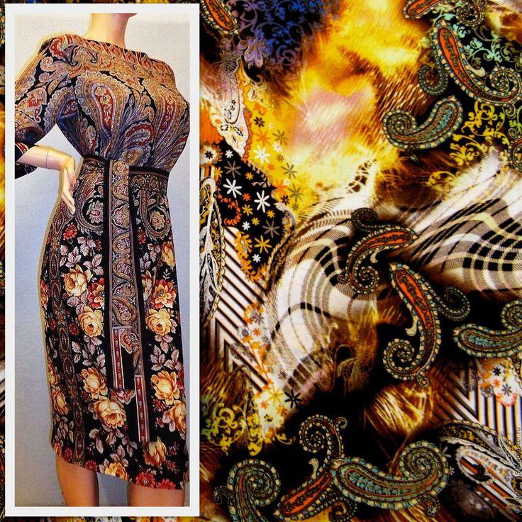 """Купить Штапель """"Шоколадный восторг"""". - коричневый, купить ткань для шитья, ткани для творчества, ткани для одежды"""
