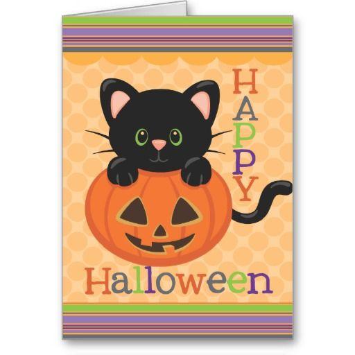 Happy Halloween Cute Cat Jack o' Lantern