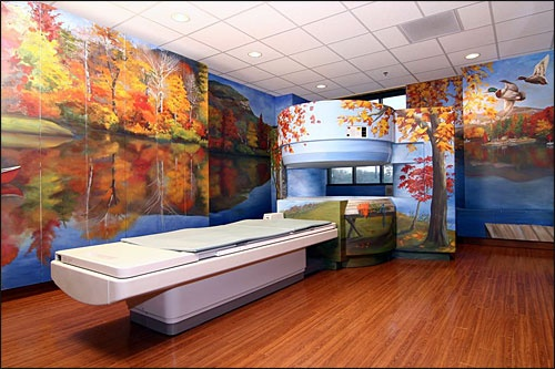 What a cool way to decorate an mri room all their for X ray room decor
