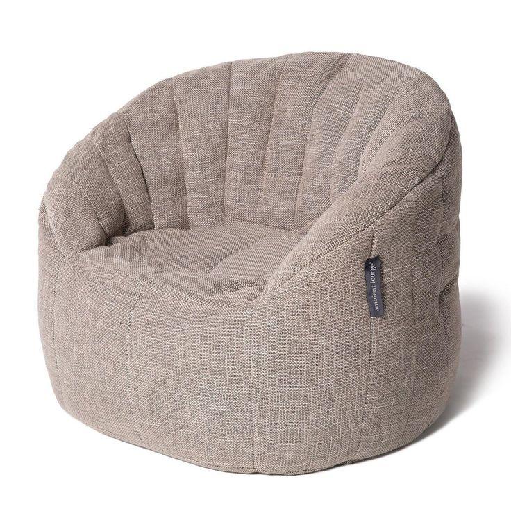 Beige Indoor Bean Bag By Ambient Lounge