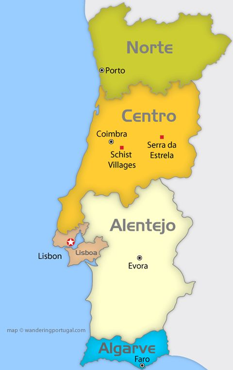 Best Portugal Algarve Coast Images On Pinterest Algarve - Portugal map lisbon to algarve