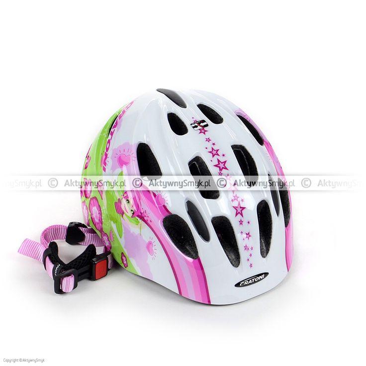 Kask dla dziecka Cratoni Akino 2 Fay white-pink glossy