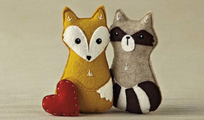 Felt animals _ Mollie Makes _ Dawanda France _ Animaux en feutrine _ animales de fieltro