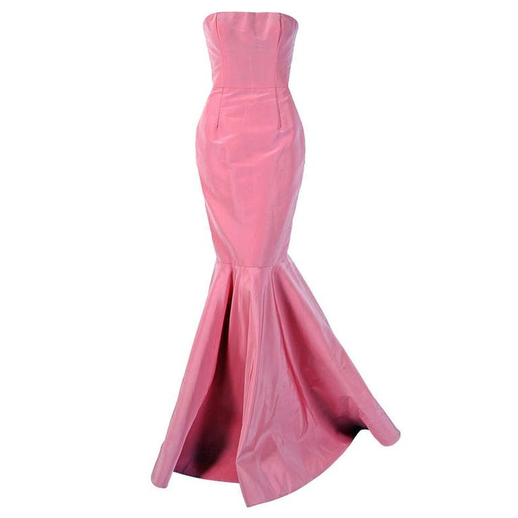 Oscar De La Renta Woman Grosgrain-trimmed Gathered Silk-chiffon Gown Pink Size 10 Oscar De La Renta lbwhWa