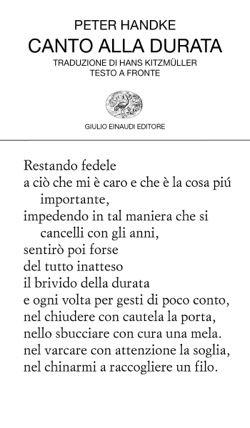 Peter Handke, Canto alla durata, Collezione di poesia - DISPONIBILE ANCHE IN…