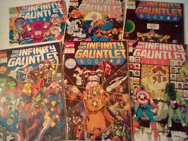 Infinity Gauntlet 1,2,3,4,5,6 complete set! Jim Starlin,Ron Lim, Thanos,Avengers