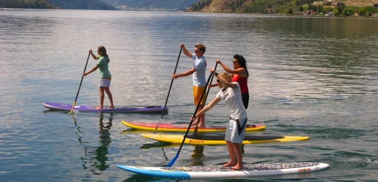 Stand Up Paddleboarding | Stand up paddleboarding is a popular activity on the lakes surrounding Vernon. | Vernon, BC