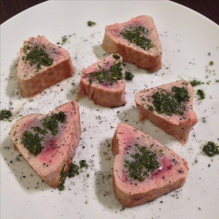 Il mio filetto di tonno in salsa verde: una poesia nel piatto!!
