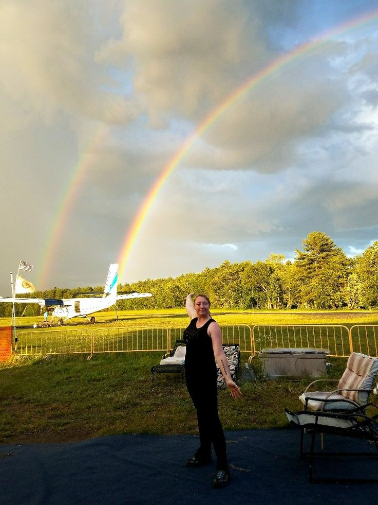 6/25/17- made it down before the storm, but oh the rainbow we were rewarded with as we waited for our video!! At Skydive Pepperell