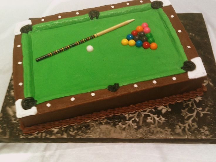 83 Best Cakes Billiards Images On Pinterest Pool Table Cake