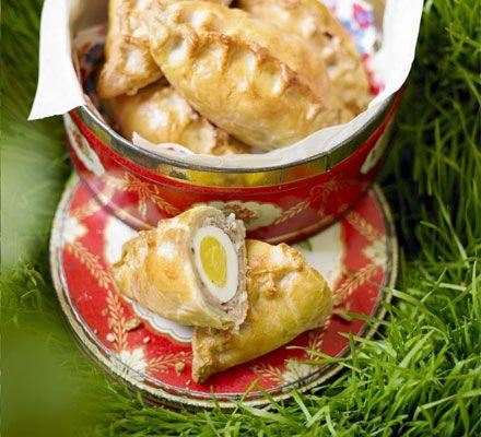 Scotch egg pasties recipe - Recipes - BBC Good Food