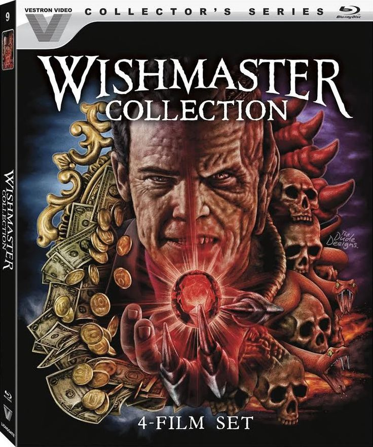 THE WISHMASTER COLLECTION BLU-RAY SPINE #9 (VESTRON)