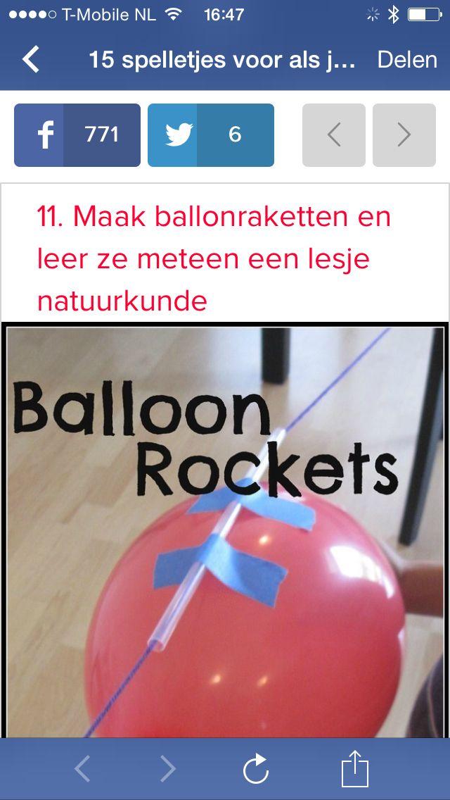 Ballon raket