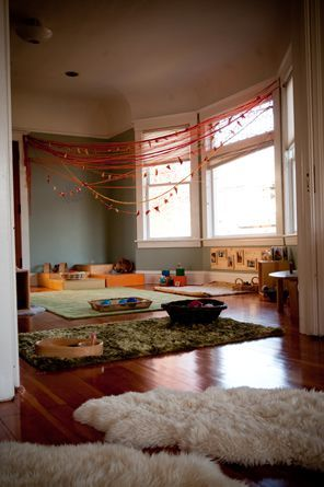Like use of rugs to define spaces/activity areas, particularly on wooden floors...which we have...