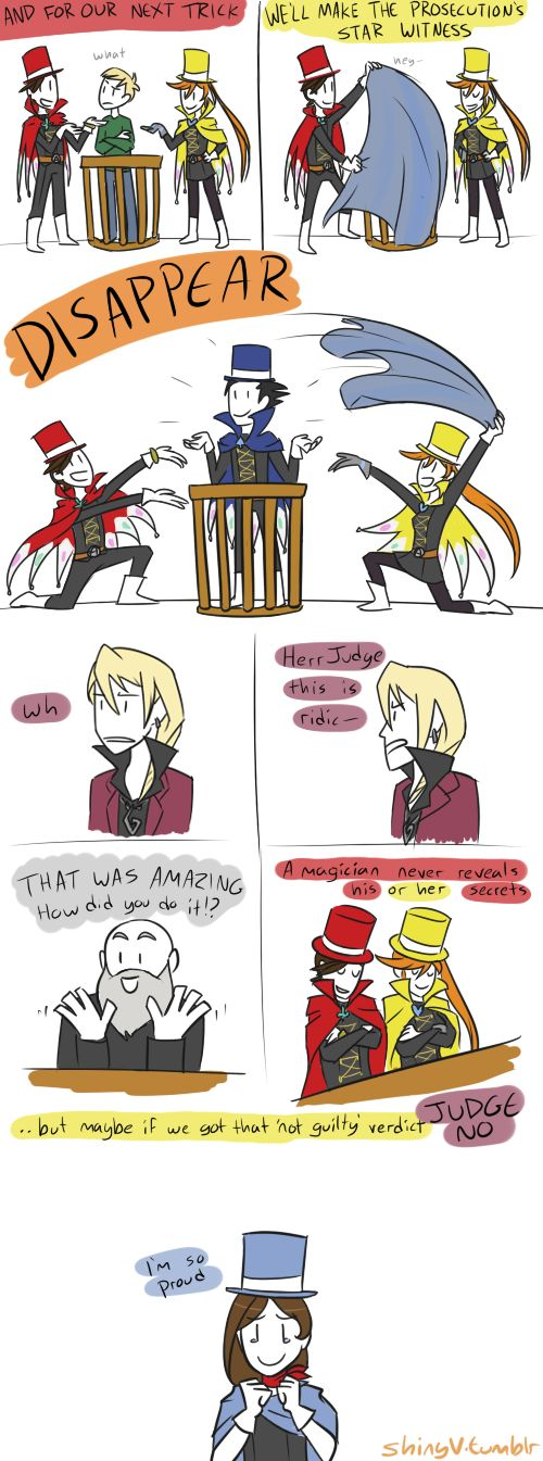 yo ho hocus pocus by ShinyVulpix.deviantart.com... ShinyVulpix is the God of Ace Attorney fan art, let me just say