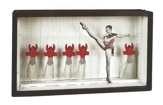 Joseph Cornell, Untitled (Zizi Jeanmaire Lobster Ballet), c. 1949 by drollgirl, via Flickr