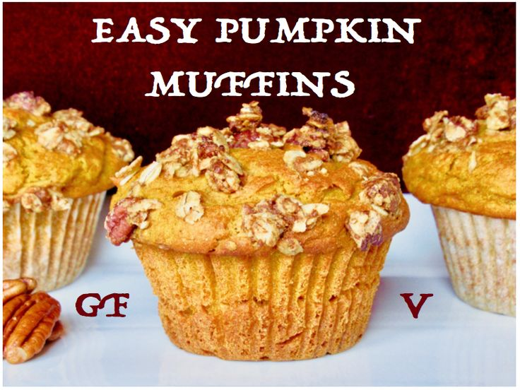 These gluten-free vegan pumpkin muffins are free of refined sugars and low in FODMAPs. They feature a pecan-oat crumble topping.