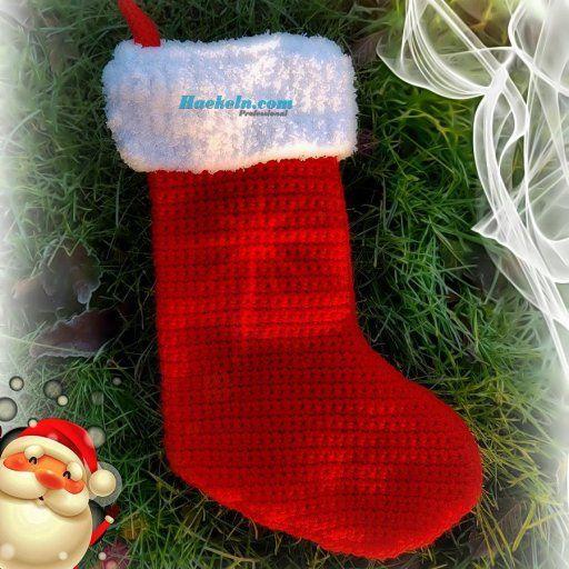 10 besten Weihnachtsstiefel Bilder auf Pinterest | Häkelanleitung ...