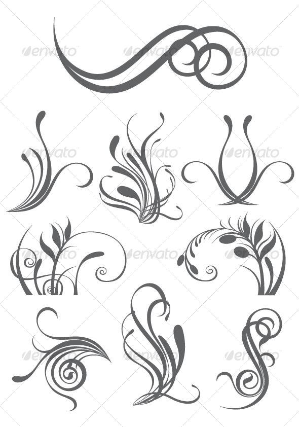Floral design elements — JPG Image #baroque #decorative • Available here → https://graphicriver.net/item/floral-design-elements/81421?ref=pxcr