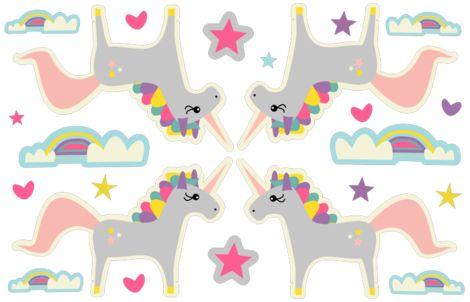 Unicorn and Rainbow fabric by bruxamagica on Spoonflower - custom fabric