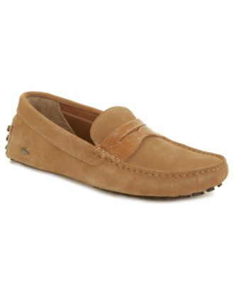 Lacoste Shoes, Concours Suede Loafers - Mens Loafers & Slip Ons - Macy's