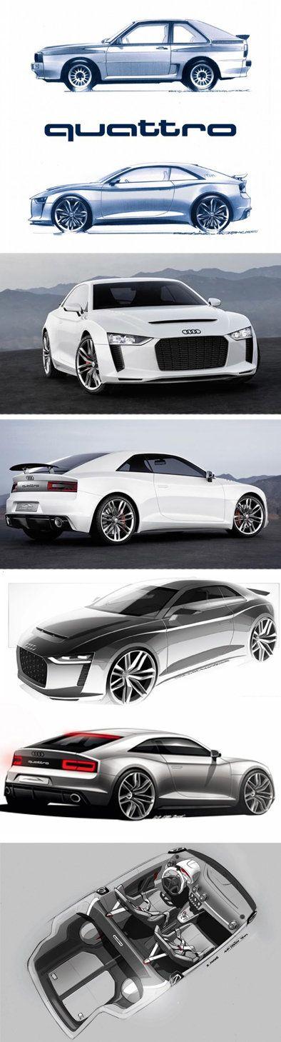 Audi, Car Design, Concept Cars Audi Quattro Concept Car - Did someone say Quattro? (Cool Cars)
