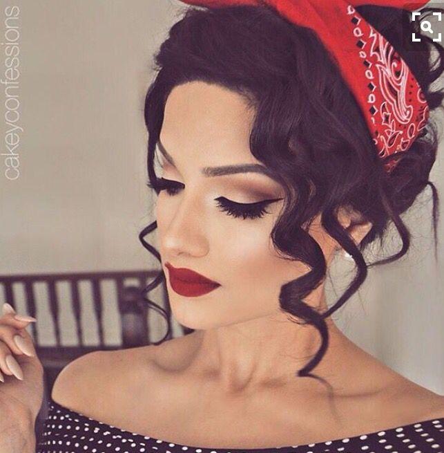 Jaren 50 make-up   Hair   Pinterest