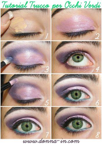 Green Eyes Make Up Tutorial
