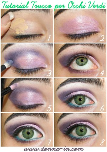 Make up tutorial http://www.donna-in.com/2012/05/make-up-tutorial-trucco-per-occhi-verdi/