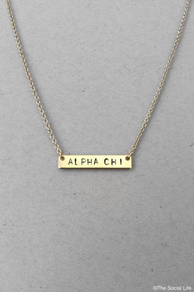 Alpha Chi Omega Custom Necklace