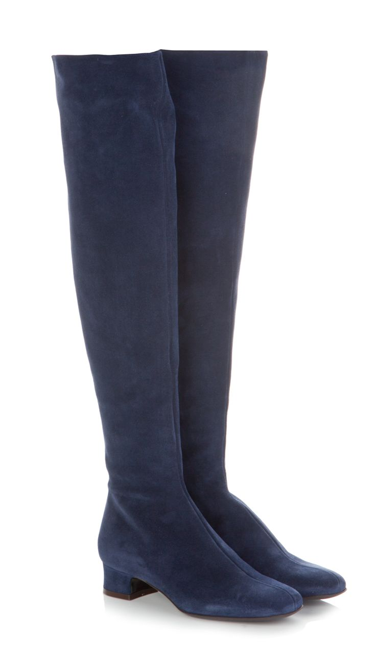 P.A.R.O.S.H. knee high boots blue