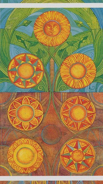 Seven of Pentacles - The Crystal Tarot. - Die Zahl sieben hat seit jeher eine besondere, archetypische Bedeutung.